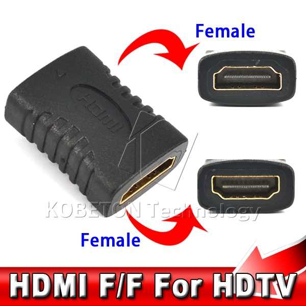Kebidumei 2017 NEW Mini HDMI Cable Extender Female to Female Coupler Adapter Connector Converter for HDTV HDCP up to 1080P