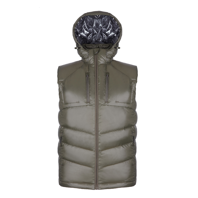 5f3a76444 US $71.99 |New Arrive Puffer Lightweight Quilted Duck Down Vest Men Hooded  Sleeveless Gilet Homme Bodywarmer Outdoors Jacket Chaleco Hombre-in Vests &  ...