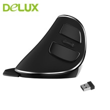 Delux M618 PLUS usb mouse optical Wireless Vertical Portable Size Ergonomic Design Wireless Mouse 1600 DPI Mouse For PC Computer