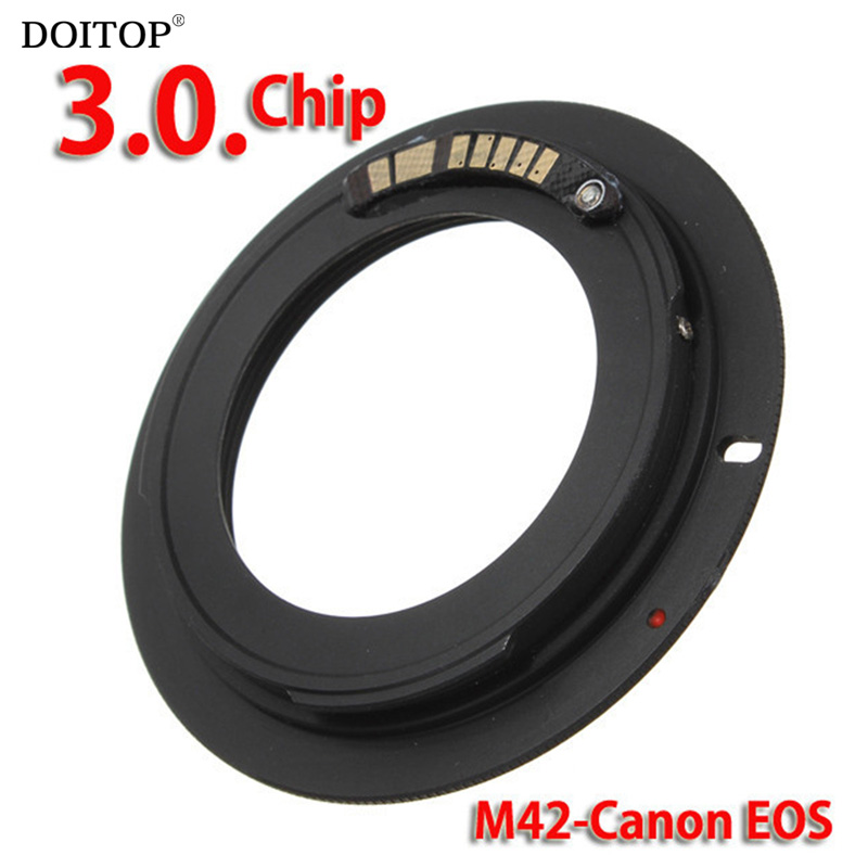 DOITOP For M42-EOS M42 Lens 42 Mount Lens Adapter Ring for Canon EOS 500D,1000D,450D,400D,350D,300D,50D,40D,30D,20D,10D DSLR electronic af confirm m42 mount lens adapter for canon eos 5d 7d 60d 50d 40d 500d 550d 600d rebel t2i t3i 1100d