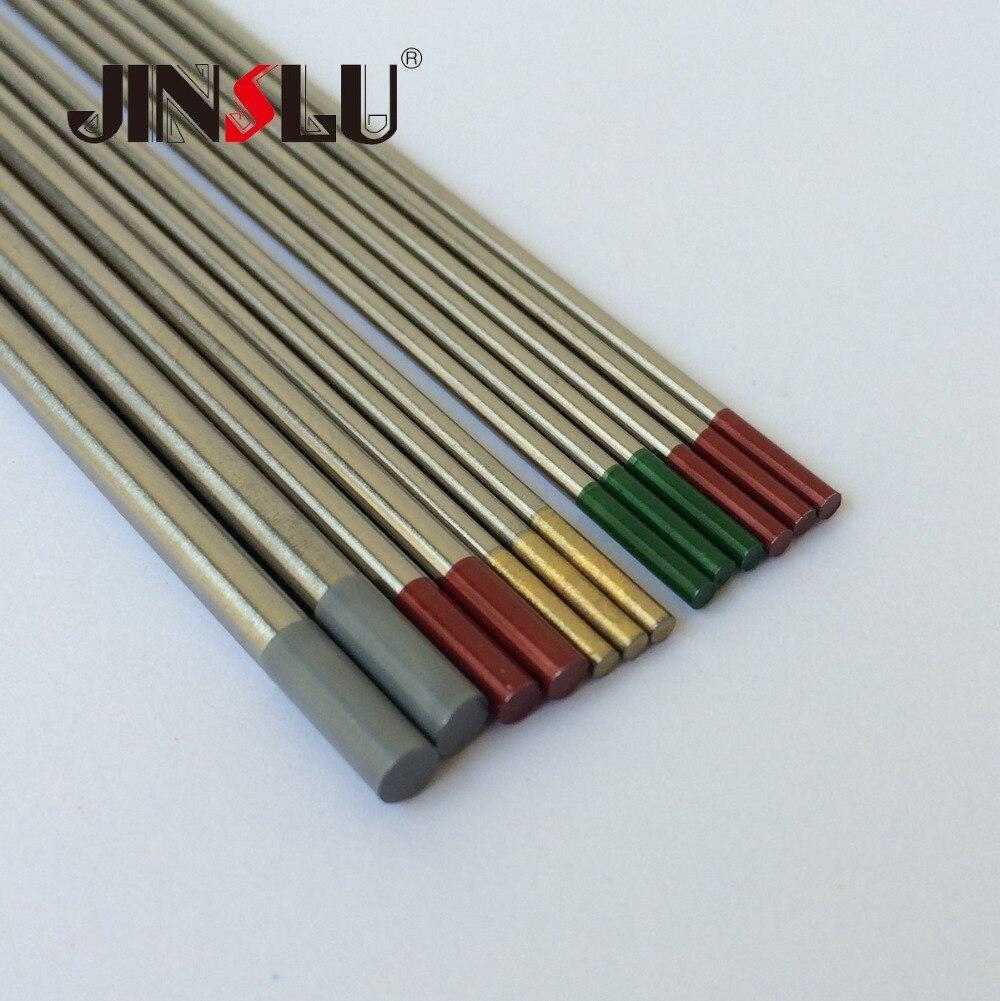 punta azul para TIG Electrodos de tungsteno para soldadura TIG varilla de electrodo de tungsteno lantanado paquete de 10 1.0 * 150mm 2/% WL20