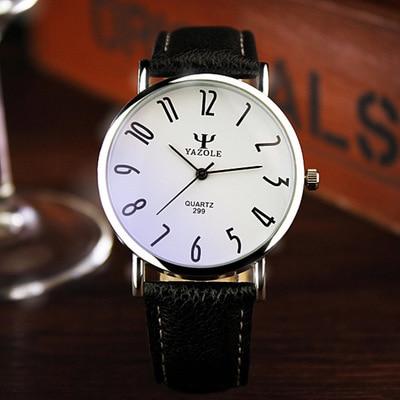YAZOLE Brand Business Watches 2016 Fashion Genuine Leather Quartz Watch Men Casual Wristwatch Relogio Masculino Clock