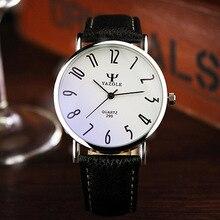 YAZOLE Marque D'affaires Montres 2016 Mode En Cuir Véritable Quartz Montre Hommes Casual Montre-Bracelet Relogio Masculino Horloge Hommes