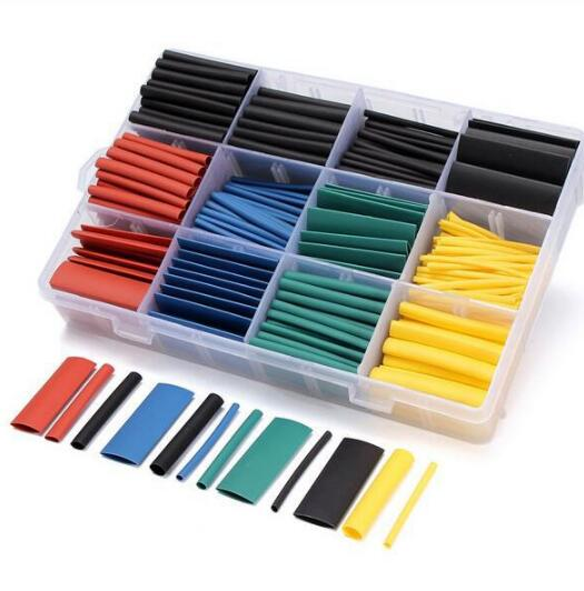 530pcs Heat Shrink Tubing Insulation Shrinkable Tube Assortment Electronic Polyolefin Ratio 2:1 Wrap Wire Cable Sleeve 55m pack insulation polyolefin ratio 2 1 heat shrink tubing 11 sizes 6 colour shrinkable tube sleeving set