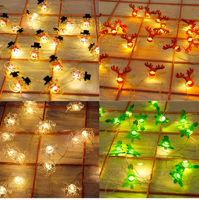 QIFU Snowman Elk Garland Holiday Light String Merry Christmas Decor for Home Christmas 2019 Ornament Navidad Natal New Year 2020 14