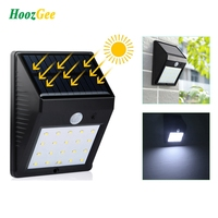 HoozGee CLASSIC STYLE HOT SALE Solar Wall Light Outdoor Lighting 8 12 16 20 LED PIR