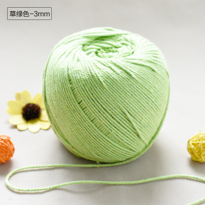 3 мм X 150 м макраме шнур из натурального хлопка Craft Вязание шнур веревка для гобелены Завод Вешалка витой крючком ловец снов