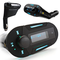 Car MP3 Player FM transmitter With LCD Display Support USB Source SD Card Cigarette Lighter Adapter 3.5mm Stereo Headphone Jack