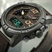 NAVIFORCE Watch Men Luxury Leather Fashion Military Sport Wristwatch Waterproof Men's Watch Relogio Masculino Clock With box