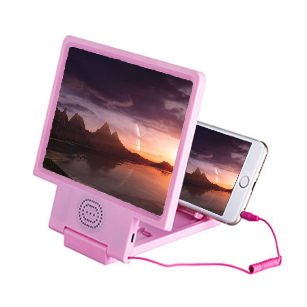 Screen Magnifier Amplifier Horn Sound Video Enlarge Mobile Phone Screen Amplifier Sound Loud Speaker Universal Portable Folding