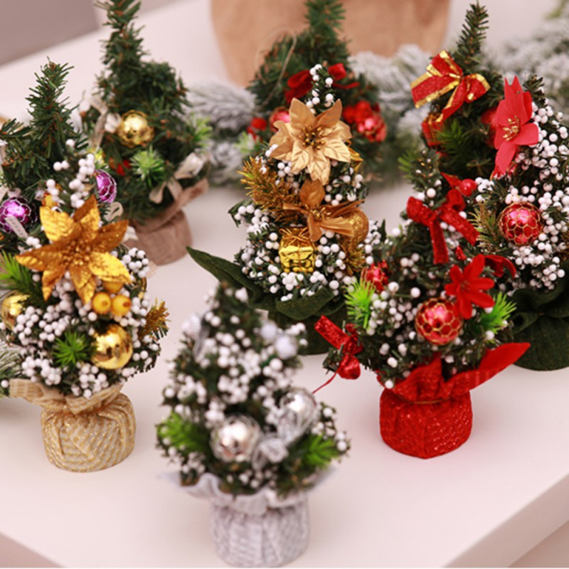 Mini Christmas Tree Bedroom Desk Toy Doll Gift Christmas ...