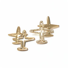 Double Airplane Brooch Unisex Jewelry Cute Beetle Cock Enamel Pin Shirt Denim Collar Badges on a Backpack Aircraft Brooches