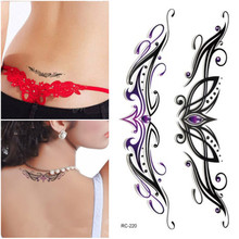Flash Tattoo Sticker Waterproof Henna Tattoo Sexy Women Temporary Body Art