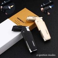 Ветрозащитная Зажигалка для барбекю зажигалка для Сигар Зажигалка Turbo Jet бутан сигареты 1300 C пистолет бумажный жгут для зажигания трубки для...