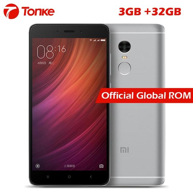 """Оригинальный Xiaomi Redmi Note 4 3 ГБ Оперативная память 32 ГБ Встроенная память Мобильный телефон MTK helio X20 Дека Core 5.5"""" FHD 4100 мАч отпечатков пальцев ID 13MP Камера"""