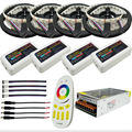 5-20m RGBW RGBWW Led Strip Light 5050 DC 12V 4 in 1 Chip IP20/IP65 Waterproof + Remote Controller + Led Power Supply Kit