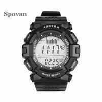 SPOVAN 706 Fishing Clock Digital Sport Watch Waterproof Barometer Altimeter Thermometer Stopwatch Reloj Hombre Relogio Masculino