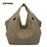 Luxury Handbags New Fashion Canvas Big Women Bags High Quality Hobo Messenger Bags Famous Top Handle