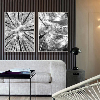 Black and White Forest Tree Picture Home Decor Nordic Canvas Painting Wall Art Prints and Posters Decor Pating for Living Room image
