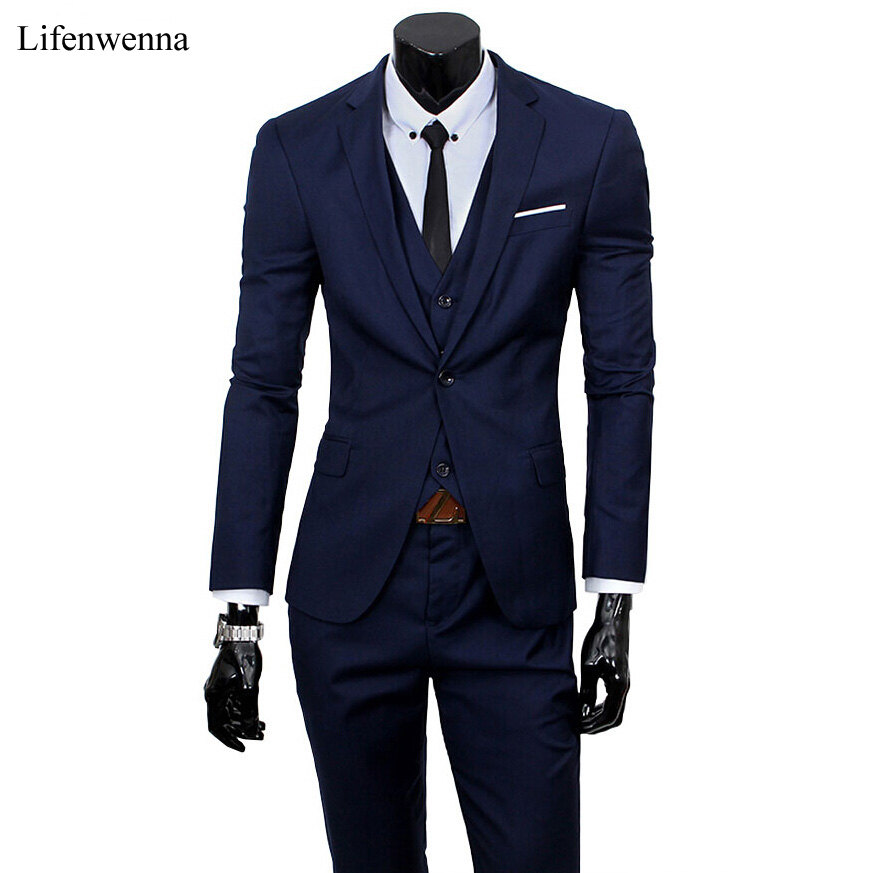 2017 New Men Suits One Buckle Brand Suits Jacket Formal ...