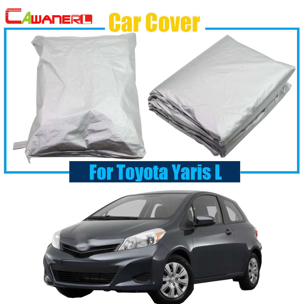 Cawanerl Outdoor Car Cover Sun Shade Rain Snow Resistant Protector Cover Anti UV For Toyota Yaris L Free Shipping !