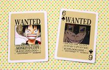 One Piece Luffy Wanted Playing Poker Cards