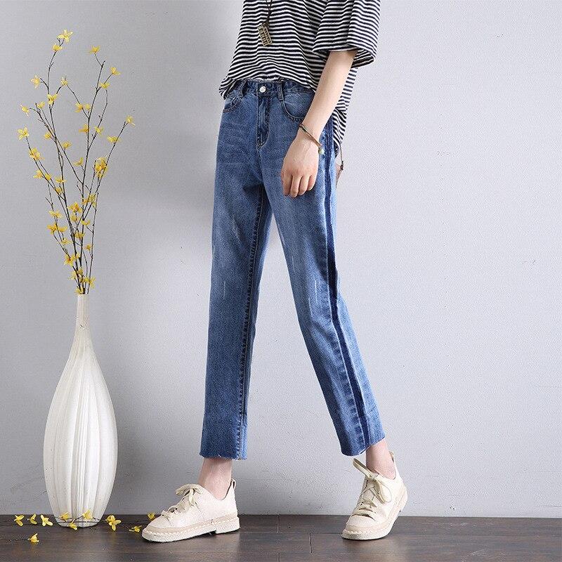 HEE GRAND Calf-Length Old Jeans 2020 Women Spring Pants Plus Size 32 Summer Loose Denim Women Jeans High Waist Trousers WKN623