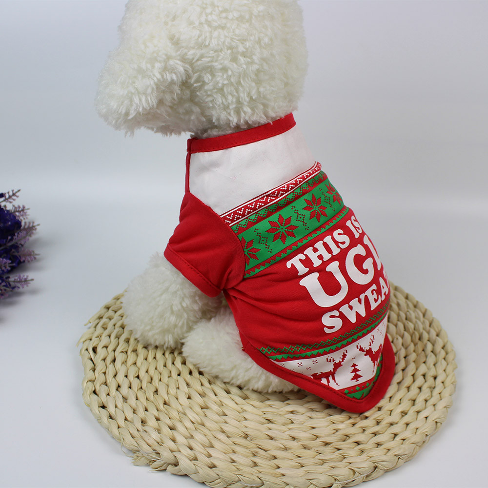 Small Dogs Costume Clothes For Little Dogs Overalls Lovely Christmas Dog Clothing Cotton ...