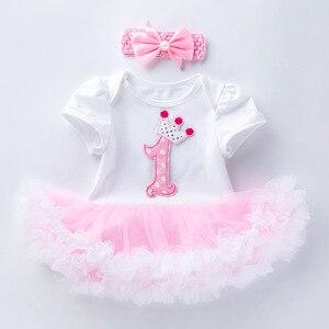 Розовое Кружевное Платье-пачка для девочек 1-2 лет, вечерние платья для детей, Летнее Детское платье, одежда для младенцев, R82