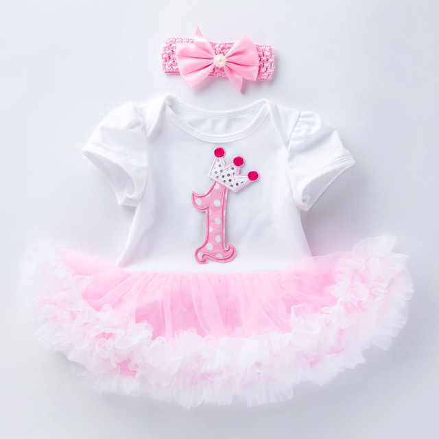 Cupcake Pink Lace Tutu Baby Girl <font><b>Birthday</b></font> <font><b>Dress</b></font> For 1 and <font><b>2</b></font> Years Kids Party Clothes Summer Childrens <font><b>Dress</b></font> Infant Clothing R82 image