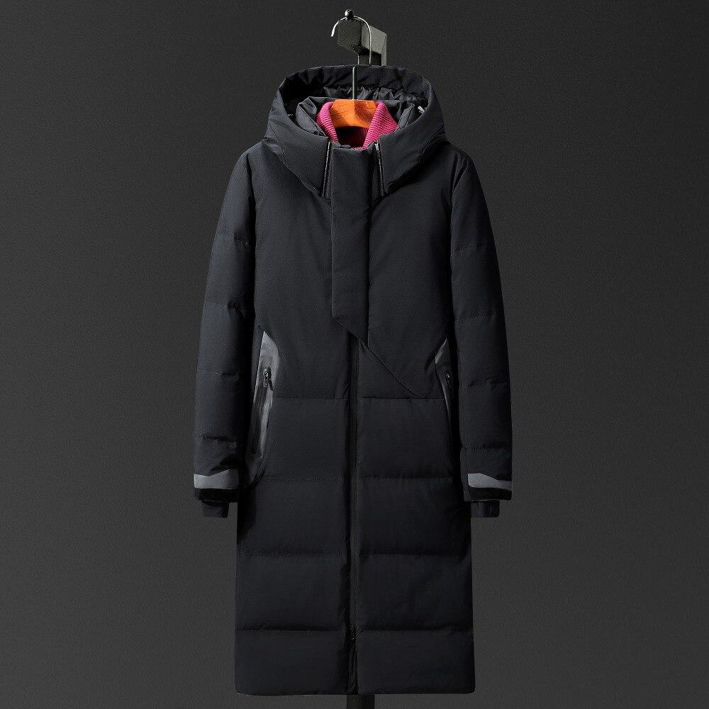 dfaaaad64cc Snow Overcoat X-Long Down Jacket Thicken Warm Windproof Russia Winter  Jacket Men Hat doudoune