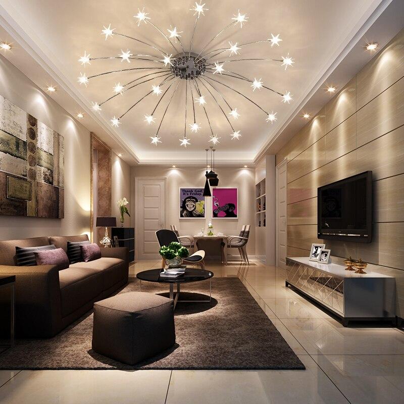 llevado moderno para saln comedor dormitorio araa luces lustre luminaria lmpara de granos de la lmpara g lmparas accesorio