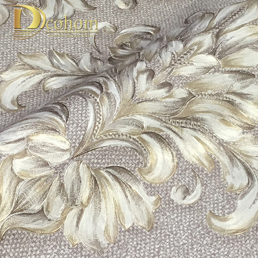 Dcohom Vintage 3D Black Damask Wallpaper For Bedroom Living Room Sofa TV Walls Home Decor Luxury Embossed Wall Paper Rolls modern wallpaper for walls black white leaves pattern bedroom living room sofa tv home decor luxury european wall paper rolls