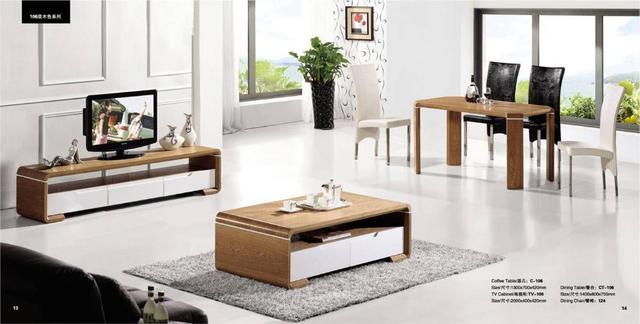 Woonkamer Houten Meubels : Woonkamer koffietafel tv kabinet en eettafel set stuk set