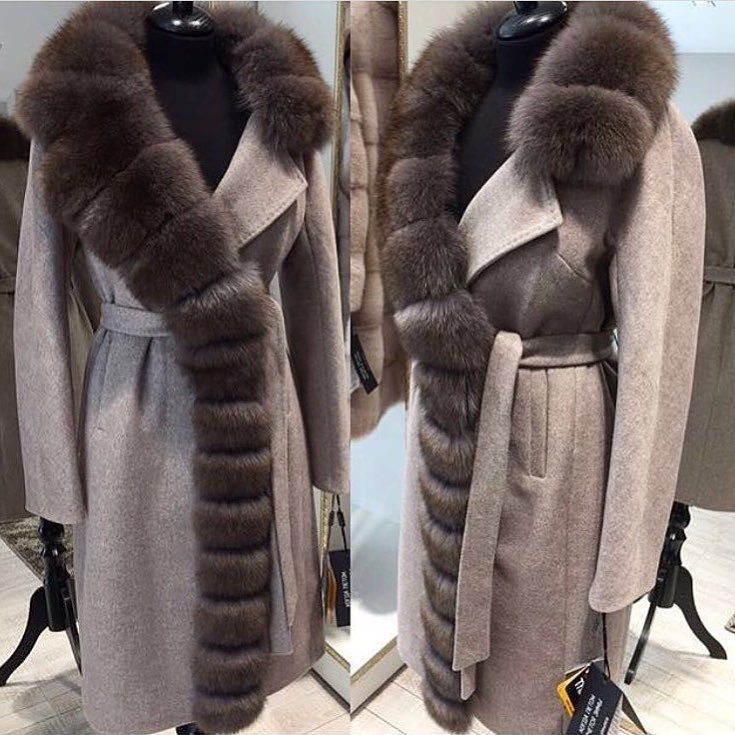Luxurious Oversized Real Fox Fur Collar Cashmere Coat 90% Wool Blends Winter Real Fur Coat Women Clothes Real Fur Jacket