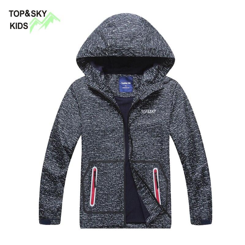 Topsky бренд 2018 Водонепроницаемый Обувь для мальчиков флисовая куртка ребенок Обувь для мальчиков флисовая куртка ветровка серая Демисезонны...