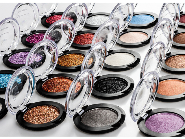 Pudaier Glitter Eyeshadow Smokey Eye Shadow 20 Colors Shimmer Sparkle Eyeshadow Palette of Shadows Makeup Palettes Cosmetics 1