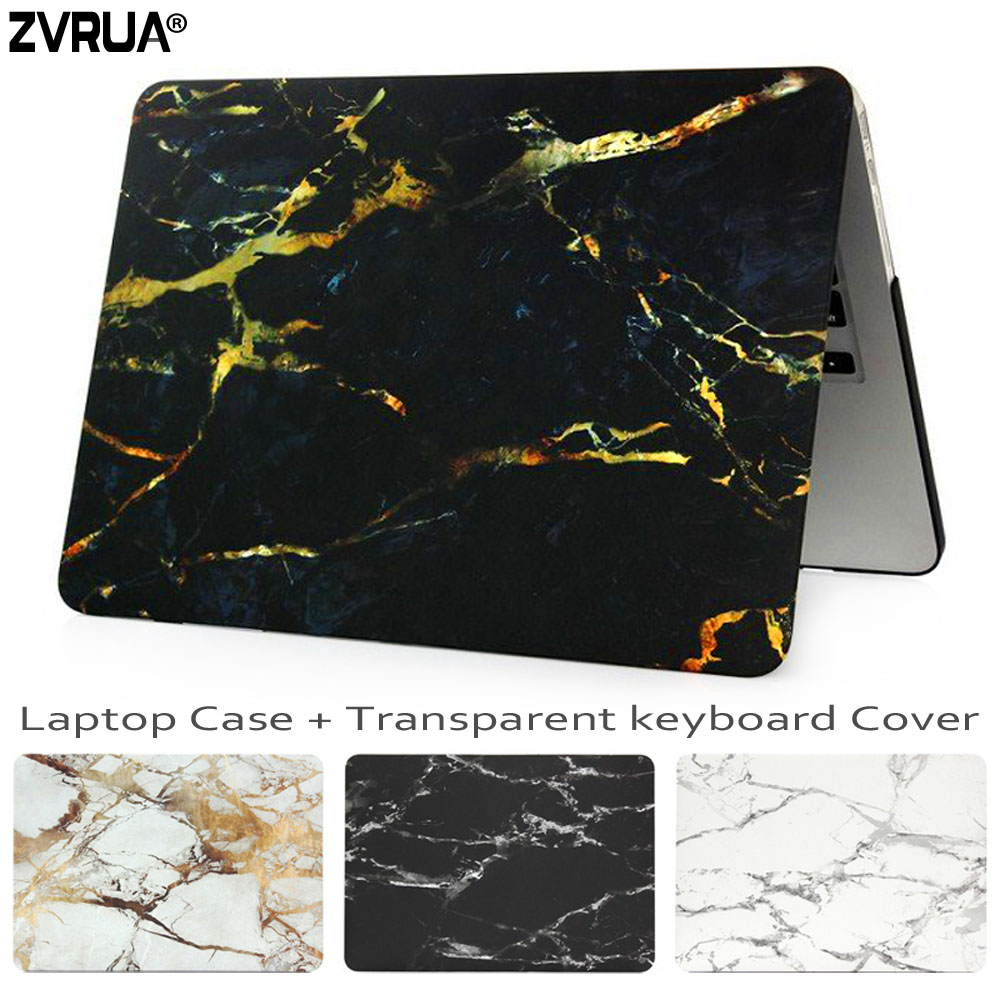 все цены на ZVRUA Marble Laptop Case for Macbook Air Pro Retina 11 12 13.3 15 inch for New Mac Book 13 15 with Touch Bar +Keyboard Cover онлайн