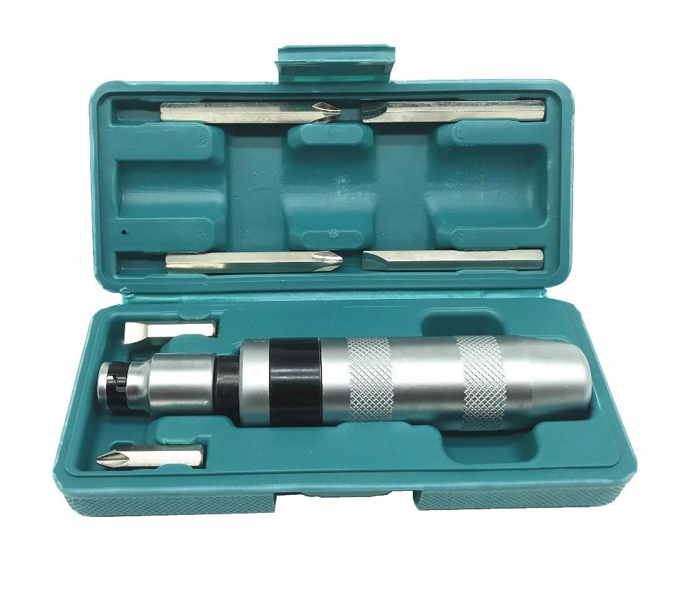 Chave de fenda portátil profissional do motorista do impacto de 7 pces para afrouxar parafusos congelados e fixadores teimosos com punho antiderrapante