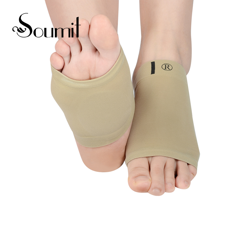 High Elastic Bandage Silicone Gel Arch Insoles for Men and Women Flatfoot Massage Alleviate Foot Pain Friction Foot Care Cushion
