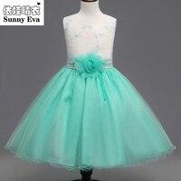 Yingwaaiyi Lace Flower Girl Dresses For Weddings Party Evening Dresses For Girls Children Girl Summer Clothes