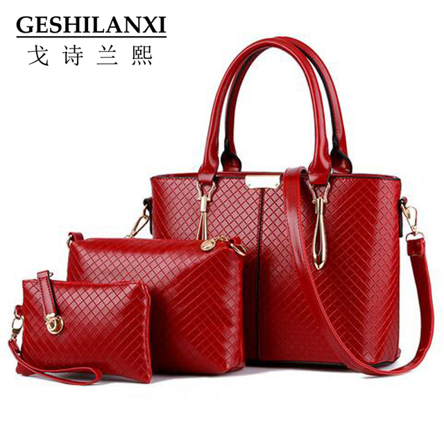 2016 women handbags famous brands women messenger bags luxury  bags designer Diamond lattice classic Three piece suit