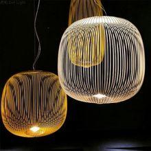 Foscarini moderne rayons 1/2 lampes suspendues Led lampe suspendue industrielle Cage Suspension décor à la maison salon luminaires