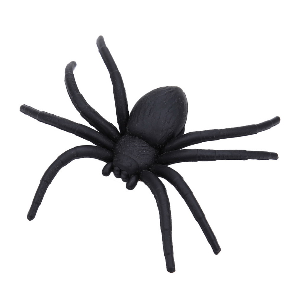 20pcs plastic spider halloween plastic black spider tricky joking toys realistic for playing fun haunted house prop decoration - Spider Halloween Decoration