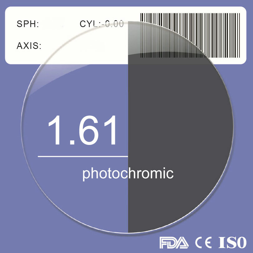 Photochromic Radiation prevent eyewear Prescription Lens blue ray UV protect Aspheric Diopter Lens Myopia Hyperopia Presbyopia