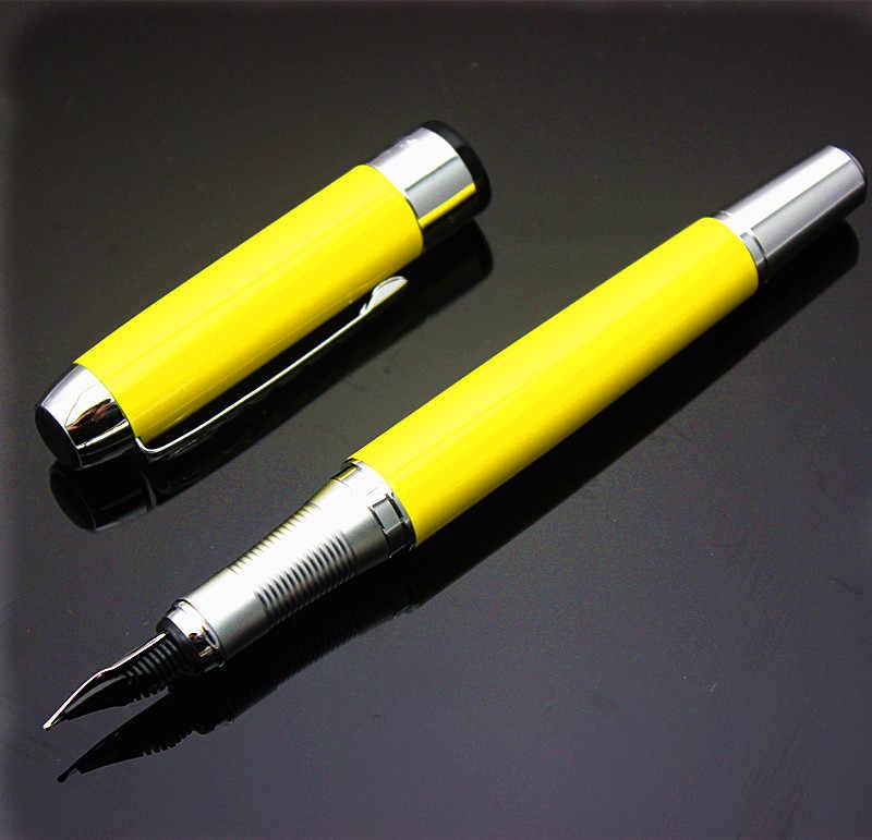 JINHAO x750 amarelo Médio Nib Fountain Pen Nova JINHAO 250 escola Escritório caligrafia caneta de tinta