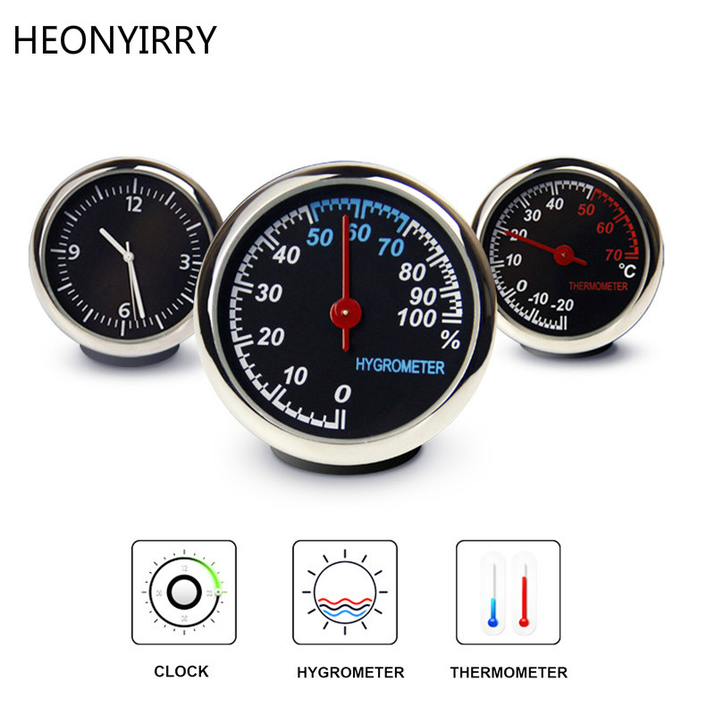 Mini Car Automobile Digital Clock Auto Watch Automotive Thermometer Hygrometer Decoration Ornament Clock In Car Accessories кеды john galliano john galliano jo658awaeqc6