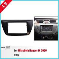 New 2 Din Car Refitting Radio Fascia for 2006 Mitsubishi Lancer IX 2DIN DVD Player Frame Trim Kit Plate Radio Installation Frame