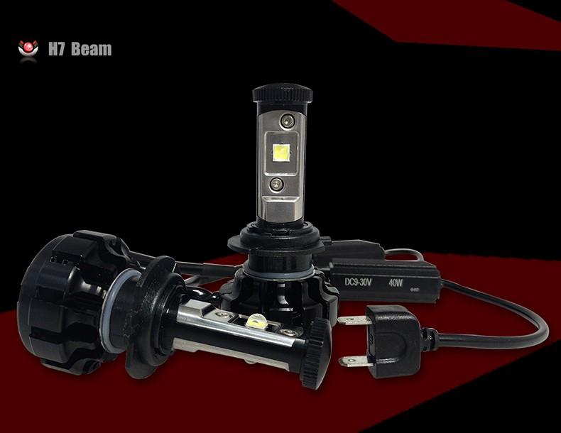 CNSUNNYLIGHT Car Turbo LED Headlight Kit Canbus H7 80W 10000LM Super Bright Replace Bulb with Anti-Dazzle Beam No Error Warning (4)