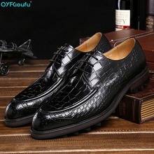 European Style Handmade Genuine Leather Men Crocodile Pattern Formal Shoes Office Business Wedding Dress Loafer